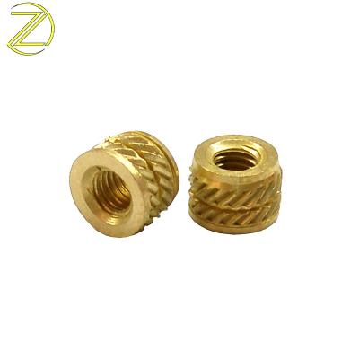 8mm threaded knurled brass inserts nuts for plastic