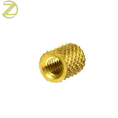 Customized metric diamond knurled inserts for plastic injection molding